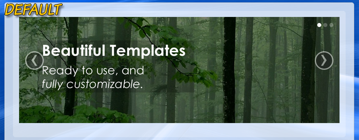 Customize the image slideshow of a responsive template package